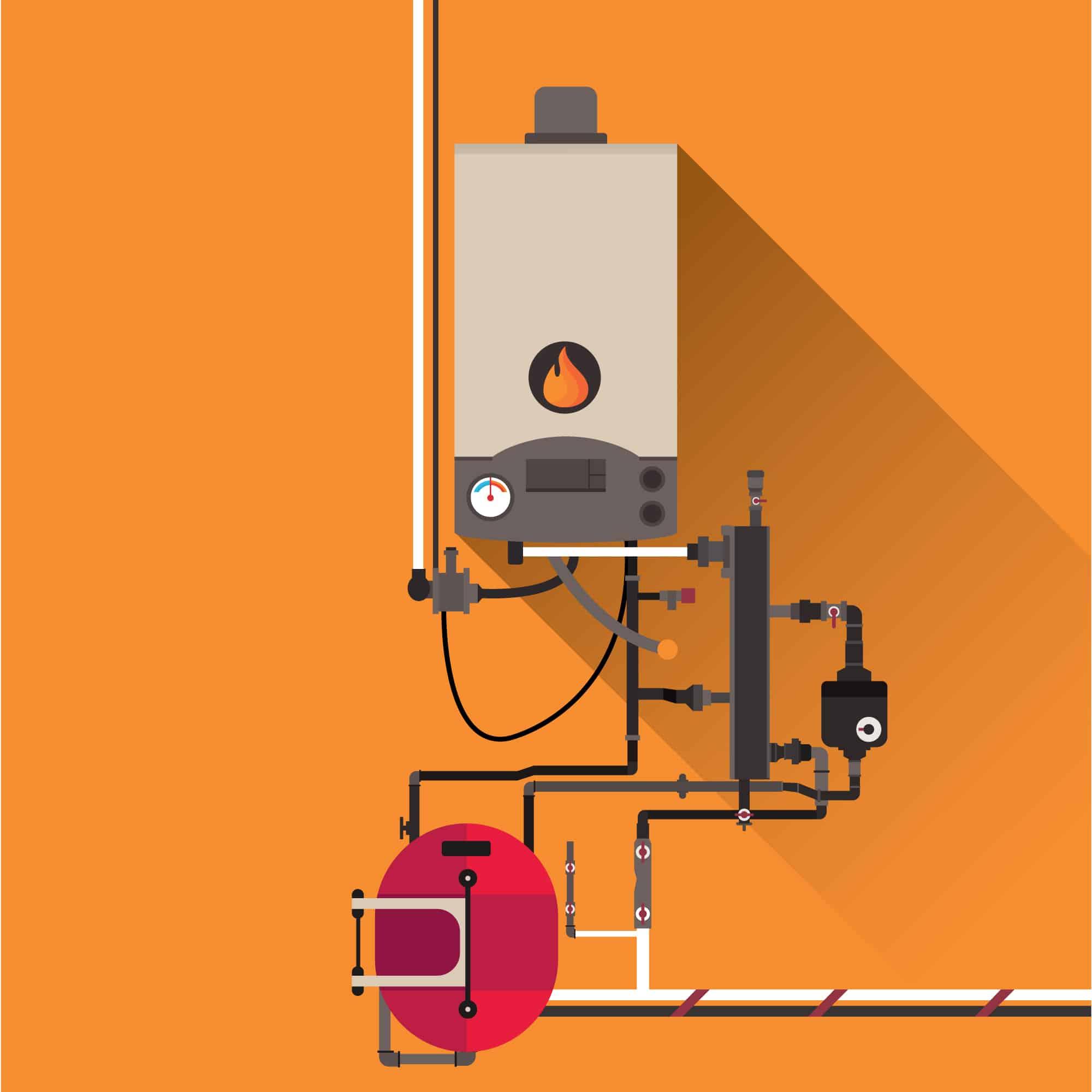 dessus Chauffe-eau électriques et à gaz sur demande